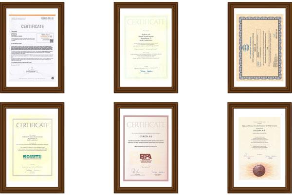 DYKON Certificates