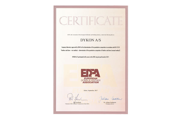 DYKON EDFA Certificate
